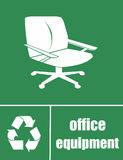 Please recycle office equipment Stock Photos