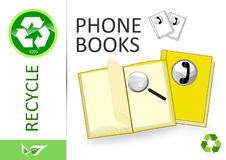 Please recycle phone books Stock Photo
