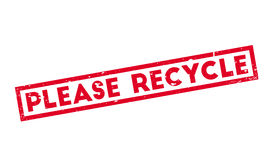 Please Recycle rubber stamp Stock Images