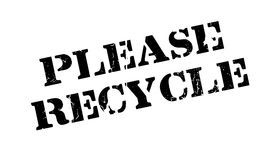 Please Recycle rubber stamp Royalty Free Stock Photo