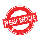 Please Recycle rubber stamp Royalty Free Stock Image