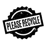 Please Recycle rubber stamp Stock Image