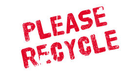 Please Recycle rubber stamp Royalty Free Stock Photography