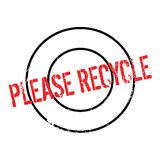 Please Recycle rubber stamp Stock Photo