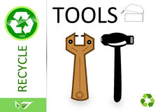 Please recycle tools Royalty Free Stock Image