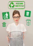 Please recycle Royalty Free Stock Image