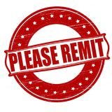 Please remit. Stamp with text please remit inside, ilustration royalty free illustration