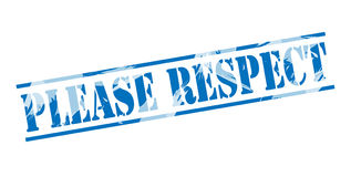 Please respect blue stamp Stock Photography