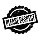 Please Respect rubber stamp Royalty Free Stock Images