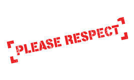 Please Respect rubber stamp Royalty Free Stock Image