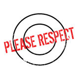 Please Respect rubber stamp Stock Image