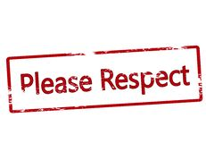 Please respect. Stamp with text please respect inside,  illustration Royalty Free Stock Image