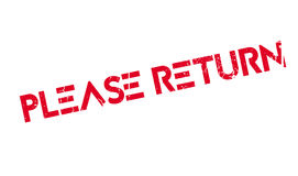 Please Return rubber stamp Stock Photography