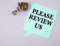 Please Review Us. Social media and business royalty free stock photo