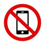 Please silence your mobile phone - warning sign No. 2. `Please silence your mobile phone` or `No phone area` vector icon on isolated background royalty free illustration