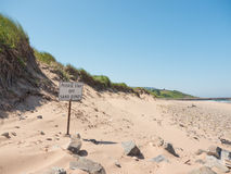 Please stay off sand dunes Royalty Free Stock Image