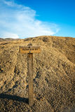 Please Stay Off Sign in National Monument. SImple Please Stay Off Sign in National Monument. Located in the Painted Hills Unit of John Day Fossil Beds in Eastern stock image