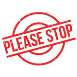 Please Stop rubber stamp Royalty Free Stock Photography