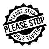 Please Stop rubber stamp Stock Photography