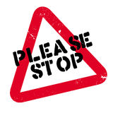 Please Stop rubber stamp Royalty Free Stock Image