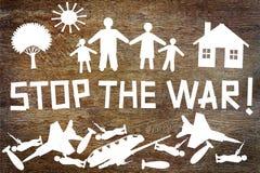 Please Stop the war Stock Photos