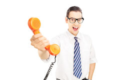 Please talk with him Royalty Free Stock Images