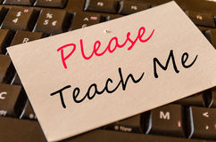 Please teach me concept on keyboard Royalty Free Stock Photo