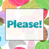 Please Text Colorful Background Royalty Free Stock Image