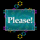 Please Text Dark Colorful Neon Royalty Free Stock Image