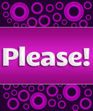 Please Text Over Purple Ring Background Royalty Free Stock Images
