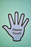 Please Touch Sign royalty free stock photo