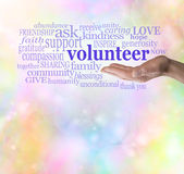 Please Volunteer Bokeh Background Royalty Free Stock Image