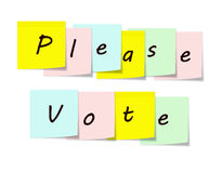 Please Vote Sticky Notes Stock Photo