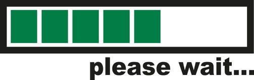 Please wait - green Loading bar Royalty Free Stock Photography