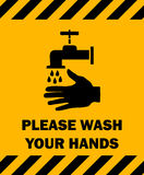 Please Wash Your Hands Sign. Stock Image