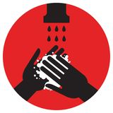 Please wash your hands. Vector illustration icon, health care stock illustration