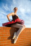 Pleased Ballerina Royalty Free Stock Photography