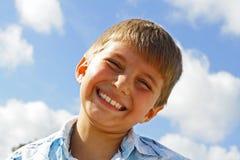 Pleased Boy Stock Photo
