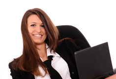 Pleased businesswoman Royalty Free Stock Image