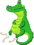 Pleased fed Crocodile Royalty Free Stock Photos