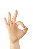 Pleased Hand Gesture Stock Photography