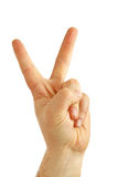 Pleased Hand Gesture Royalty Free Stock Images