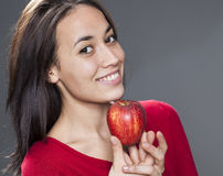 Pleased healthy health concious woman Royalty Free Stock Image