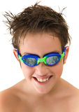 Pleased with new goggles Royalty Free Stock Photos