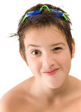 Pleased with new goggles Stock Image