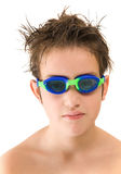 Pleased with new goggles Stock Photos