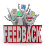 Pleased Satisfied Customers People Giving Positive Feedback Royalty Free Stock Photo