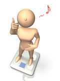 She is pleased with the success of weight loss. This is a computer generated image,on white background Royalty Free Stock Images