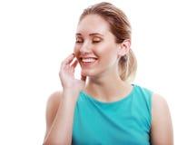 Pleased woman Stock Photo