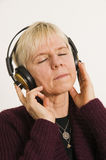 Pleasurable listening Stock Photography